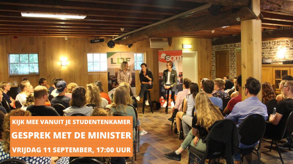 Tijdens de SOM & LOF Inwerkweken 2020 gaan we in gesprek met minister van Onderwijs Ingrid van Engelshoven.